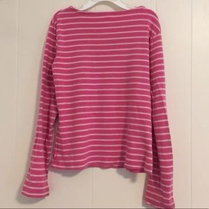 Other - Pink White Striped Long-Sleeved Shirt Girls 9-10